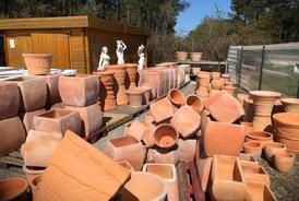 Vente de poterie décorative de jardin